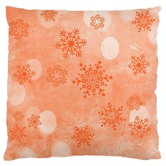 Winter Bokeh Red Large Cushion Cases (Two Sides)