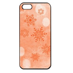 Winter Bokeh Red Apple iPhone 5 Seamless Case (Black)