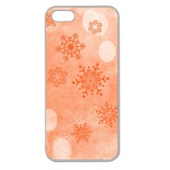Winter Bokeh Red Apple Seamless iPhone 5 Case (Clear)