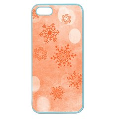 Winter Bokeh Red Apple Seamless iPhone 5 Case (Color)