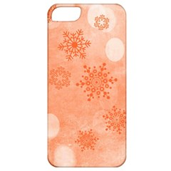 Winter Bokeh Red Apple iPhone 5 Classic Hardshell Case