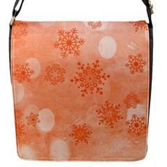 Winter Bokeh Red Flap Messenger Bag (S)
