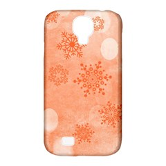 Winter Bokeh Red Samsung Galaxy S4 Classic Hardshell Case (PC+Silicone)