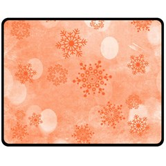 Winter Bokeh Red Double Sided Fleece Blanket (Medium)