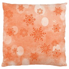 Winter Bokeh Red Large Flano Cushion Cases (two Sides)