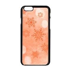 Winter Bokeh Red Apple iPhone 6/6S Black Enamel Case