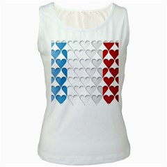 France Hearts Flag Women s Tank Tops