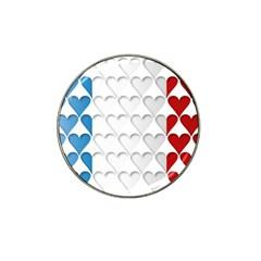 France Hearts Flag Hat Clip Ball Marker