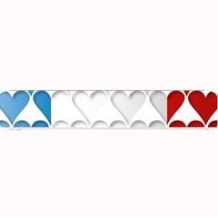 France Hearts Flag Small Bar Mats