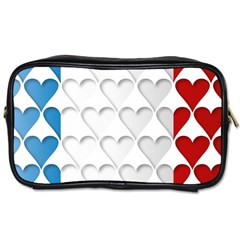 France Hearts Flag Toiletries Bags 2-Side