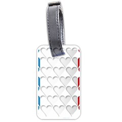 France Hearts Flag Luggage Tags (One Side)