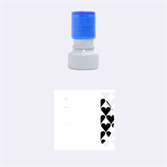 France Hearts Flag Rubber Round Stamps (Small)