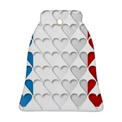 France Hearts Flag Bell Ornament (2 Sides)