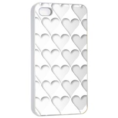 France Hearts Flag Apple iPhone 4/4s Seamless Case (White)