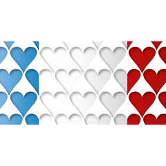 France Hearts Flag You Are Invited 3d Greeting Card (8x4)