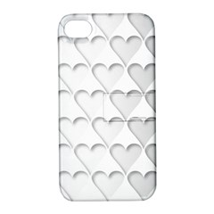 France Hearts Flag Apple iPhone 4/4S Hardshell Case with Stand