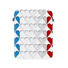 France Hearts Flag Apple iPad 2/3/4 Protective Soft Cases