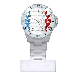 France Hearts Flag Nurses Watches