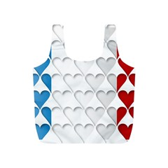 France Hearts Flag Full Print Recycle Bags (S)