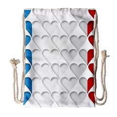 France Hearts Flag Drawstring Bag (Large)