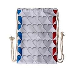 France Hearts Flag Drawstring Bag (Small)
