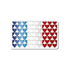 France Hearts Flag Magnet (Name Card)