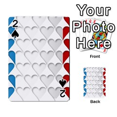 France Hearts Flag Playing Cards 54 Designs