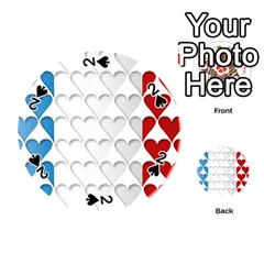 France Hearts Flag Playing Cards 54 (round)