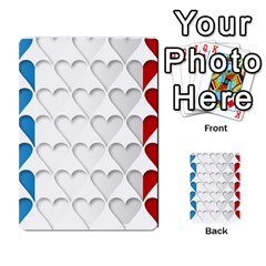 France Hearts Flag Multi-purpose Cards (Rectangle)