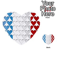 France Hearts Flag Multi-purpose Cards (Heart)