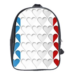 France Hearts Flag School Bags(Large)