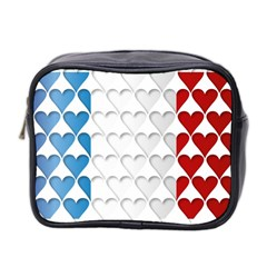 France Hearts Flag Mini Toiletries Bag 2-Side
