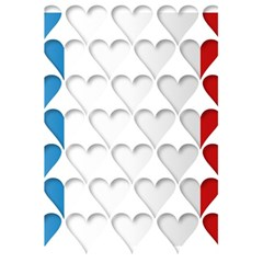 France Hearts Flag 5.5  x 8.5  Notebooks