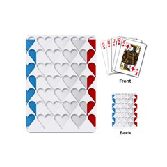 France Hearts Flag Playing Cards (Mini)