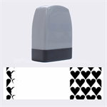 France Hearts Flag Name Stamps 1.4 x0.5  Stamp