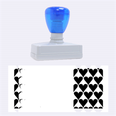 France Hearts Flag Rubber Stamps (large)