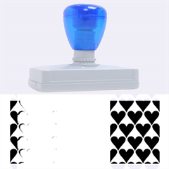 France Hearts Flag Rubber Address Stamps (XL)