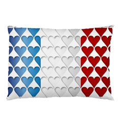France Hearts Flag Pillow Cases (Two Sides)