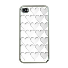 France Hearts Flag Apple iPhone 4 Case (Clear)