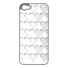 France Hearts Flag Apple iPhone 5 Case (Silver)