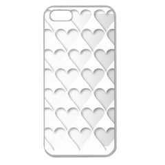 France Hearts Flag Apple Seamless iPhone 5 Case (Clear)