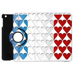 France Hearts Flag Apple iPad Mini Flip 360 Case