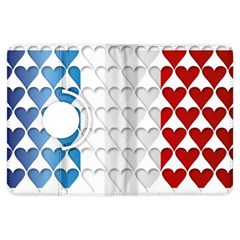 France Hearts Flag Kindle Fire HDX Flip 360 Case
