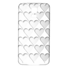 France Hearts Flag Samsung Galaxy S5 Back Case (White)