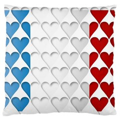 France Hearts Flag Standard Flano Cushion Cases (One Side)