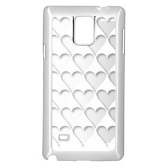France Hearts Flag Samsung Galaxy Note 4 Case (White)