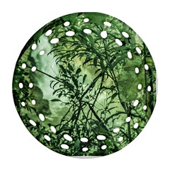 Jungle View At Iguazu National Park Round Filigree Ornament (2side)
