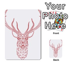 Modern red geometric christmas deer illustration Multi-purpose Cards (Rectangle)