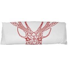 Modern red geometric christmas deer illustration Body Pillow Cases (Dakimakura)