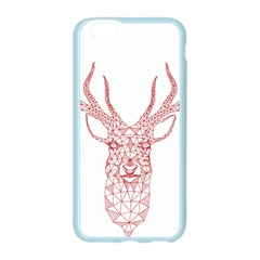 Modern red geometric christmas deer illustration Apple Seamless iPhone 6/6S Case (Color)